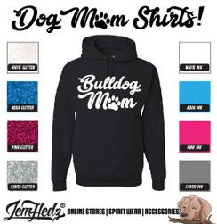 Black Hoodie with Bulldog Mom logo