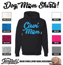 Black Hoodie with Cavi Mom logo