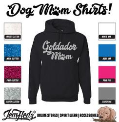 Black Hoodie with Goldador Mom logo