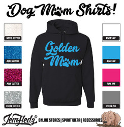 Black Hoodie with Golden Mom logo