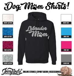 Black Hoodie with Labrador Mom logo