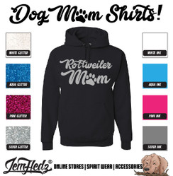 Black Hoodie with Rottweiler Mom logo