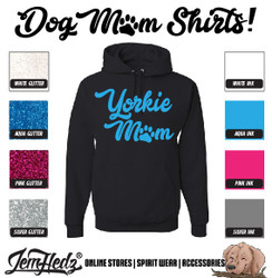 Black Hoodie with Yorkie Mom logo