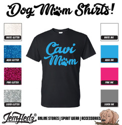 Black Short Sleeve T-Shirt with Cavi Mom logo