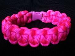 Pink Paracord Bracelet