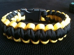 Black with Yellow Edge Paracord Bracelet