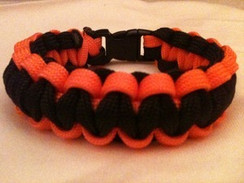 Black with Orange Edge Paracord Bracelet