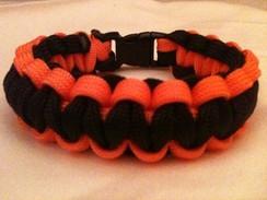Black with Orange Edge Paracord Bracelet