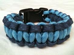 Carolina Blue with Navy Edge Paracord Bracelet