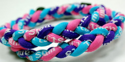 "20"" Pink Purple Light Blue Sport Necklace"
