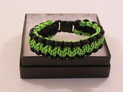 Neon Green/Black Camo with Black Edge Paracord Bracelet