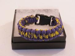 Purple/Yellow Camo with Purple Edge Paracord Bracelet