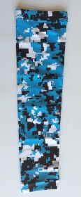 Light Blue Digital Camo Compression Arm Sleeve