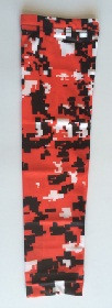 Red Digital Camo Compression Arm Sleeve