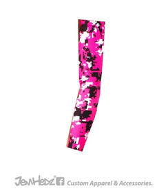 Pink/Black/White Digital Camo Arm Sleeve