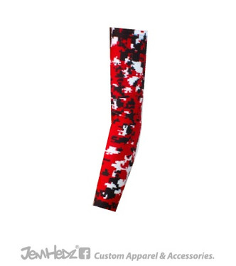 Red/Black/White Digital Camo Arm Sleeve