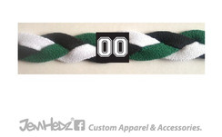 Green/Black/White Headband