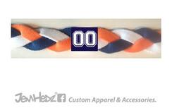 Navy/Orange/White Headband