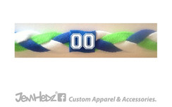 Neon Green/Royal/White Headband