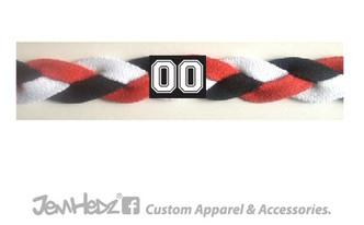Red/Black/White Headband