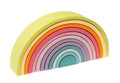 Wooden Grimm's 12 Piece Pastel Rainbow Tunnel