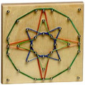 Rubber Band Geometric Board