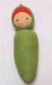 Organic Cotton Soft  Baby Rattle - Peapod