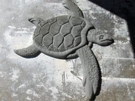 4' Turtle Stucco Art