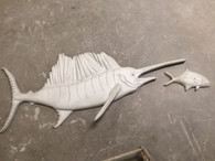 Sailfish Stucco Art (bait fish extra)