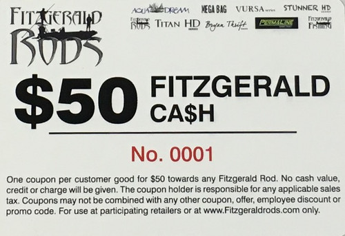 Fitzgerald Cash $50.00 Gift Card