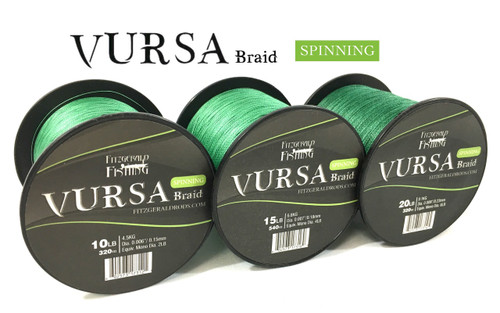 Vursa Braid Spinning 15 lb Stealth Green