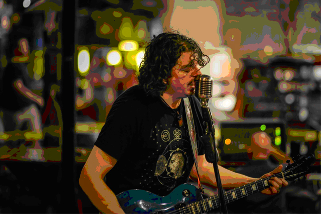 Jason Stage Jamming With Cellino's Hand Wound Pickups.