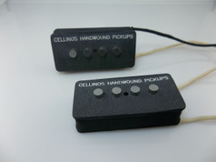 Cellino's Hand Wound Pickups Hot P-Bass© Style Pickup Set.