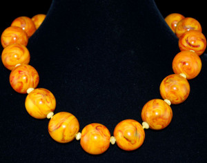 Choker length Golden Baltic sea & Butterscotch Amber necklace