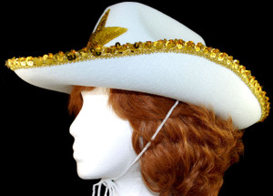 Side view of Cowboy Texas Lone Star hat