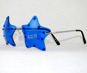 5-Star Blue Crystal custom Patriotic Sunglasses
