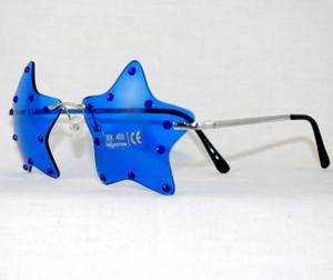 5-Star Blue Crystal custom Patriotic Sunglasses