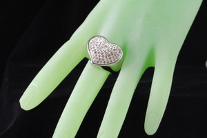 Heart Crystal Ring on hand model