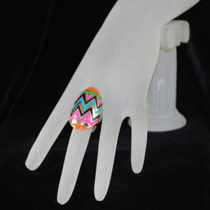 Detail of ring on hand model