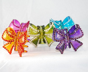 5 color choices of Swarovski Crystal medium hair clips