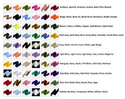 For velvet backdrop color and possibly color crystal choices.