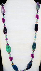 """Full view of 34"""" necklace"""