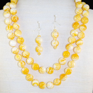 Double strand of Lemon Baltic Amber