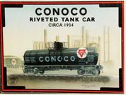 Conoco Riveted Tank Car - Circa 1934