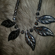 Hand-Carved Hematite Necklace
