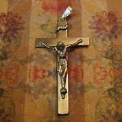 Sterling Silver Crucifix Pendant-Antique