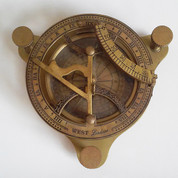 West London Antique-Style Nautical Sundial/Magnetic Compass