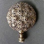 Antique Victorian Romantic Ornate Filigree Brass Finial
