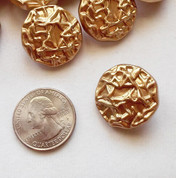 Frosted Gold Crumple Button - Shank Button
