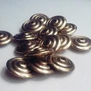 Gold Saucer Beads - Jumbo Vintage Beads (12)